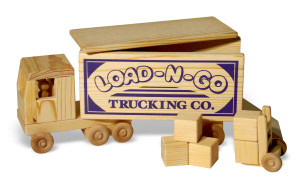 Load-n-go semi with wooden blocks